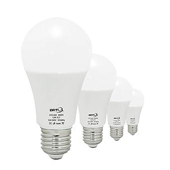Bombilla LED Esférica Casquillo E27, 12W, Equivalente a 100W, Luz Blanca 6000K,
