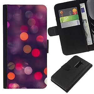 All Phone Most Case / Oferta Especial Cáscara Funda de cuero Monedero Cubierta de proteccion Caso / Wallet Case for LG G2 D800 // Glitter Dots Spots Pink Purple Orange