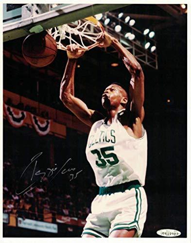 Autographed Reggie Lewis Photo - Boston Celtics 8x10 Leather Book 21343 - Upper Deck Certified - Autographed NBA Photos
