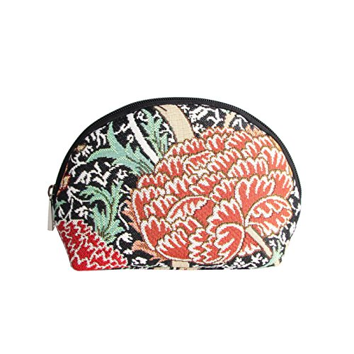 - Black Designer William Morris Floral Tapestry Makeup Bag Travel Cosmetic Bag Brush Bag for Women Girls by Signare (COSM -CRAY)