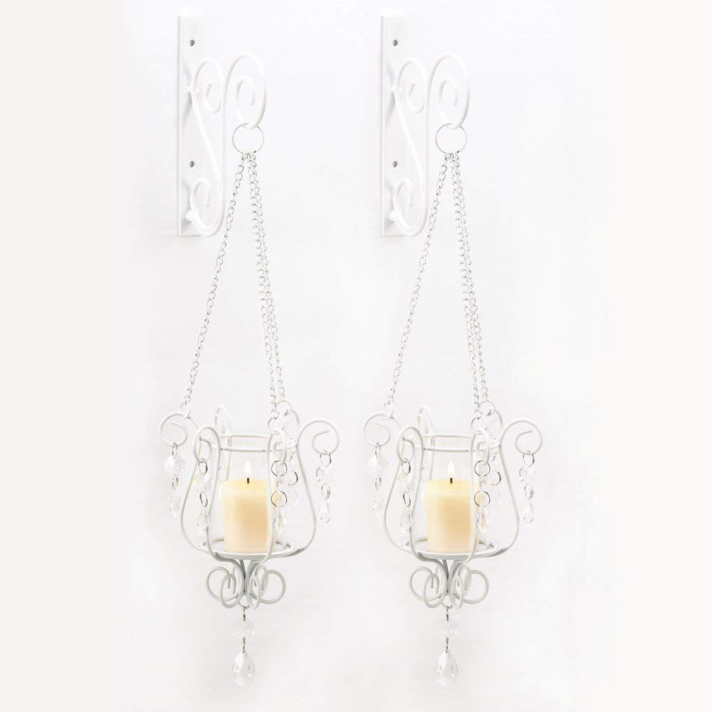 CDM product Gifts & Decor Bedazzling Pendant Candle Holder Wall Sconce Decor Pair big image
