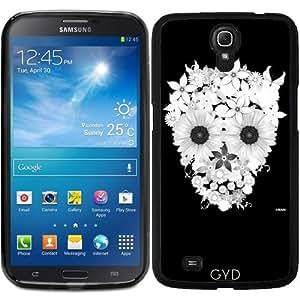 Funda para Samsung Galaxy Mega 6.3 GT-I9205 - Flores Cráneo B & W by wamdesign