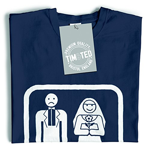 Tim and Ted Game Over Stag Gallina di nozze del matrimonio Sten Hag Divorzio divertimento sciocco T-Shirt Da Donna