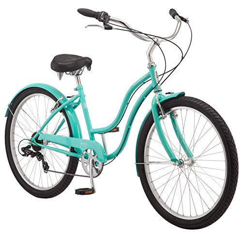 Schwinn Mikko Women's Cruiser Bike Line, Featuring 17-Inch/Medium Steel Step-Through Frames, 1-3-7-Speed Drivetrains
