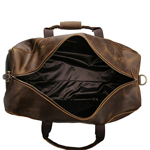 Polare 23'' Duffle Retro Thick Cowhide Leather Weekender Travel Duffel luggage Bag by Polare (Image #5)