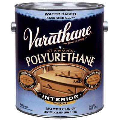 Varathane 200231 1 Gl Satin Interior Water-Based Diamond Polyurethane Finish® (Top Paint Polyurethane Side)