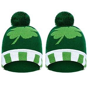 Shamrock Clover Knit Hat