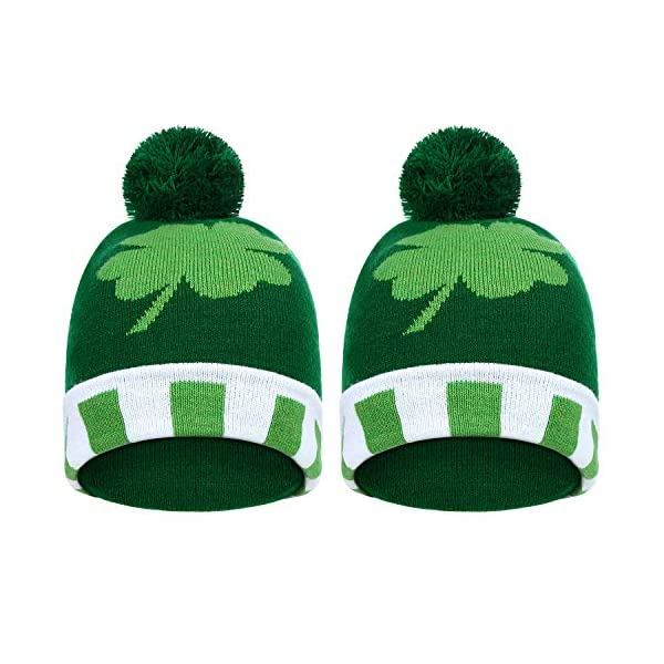 Shamrock Clover Knit Hat