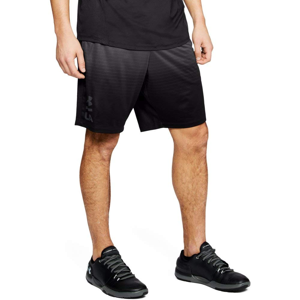 Under Armour Men's MK1 Short Fade novelty, Charcoal (019)/Black, X-Large