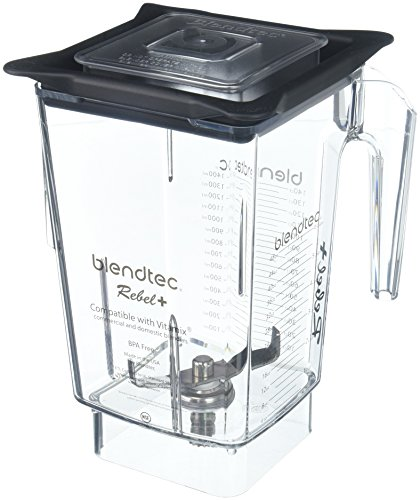 Blendtec Rebel+ (90 oz), Replacement Container for Vitamix, Five Sided, Professional-Grade Blender Jar, Vented Latching Lid, BPA-free, Clear