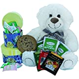 I Wuv You Beary Much Gift Basket of Tea and Cookies with Teddy Bear