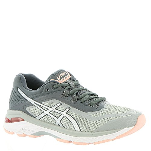 ASICS T855N Women's GT-2000 6 Running Shoe, Mid Grey/Silver/Carbon - 8.5 B(M) US