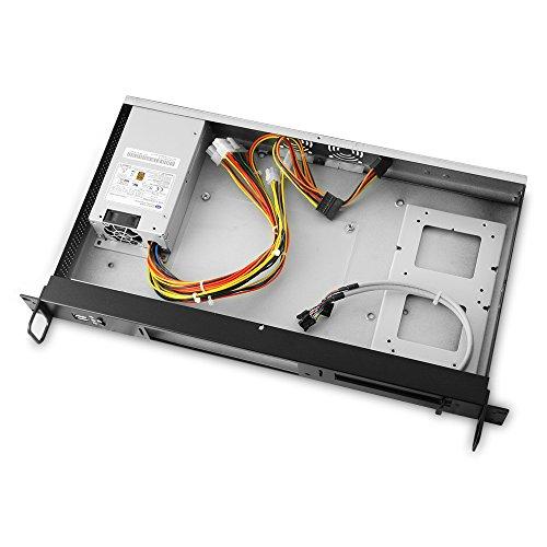 MITXPC M1U05 Mini 1U Rackmount Case with Front I/O Access, 250W 80+ Power Supply by MITXPC (Image #1)