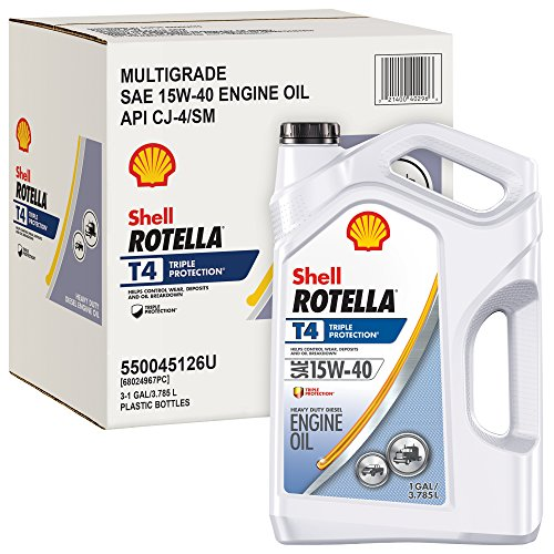 Rotella T4 Triple Protection Diesel Oil, 15W-40 (CK-4), 1 Gallon - Pack of 3