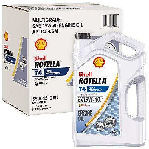 Rotella 550045126-3PK T4 Triple Protection Motor Oil (15W-40 CJ4), 3 Pack, 1 gallon