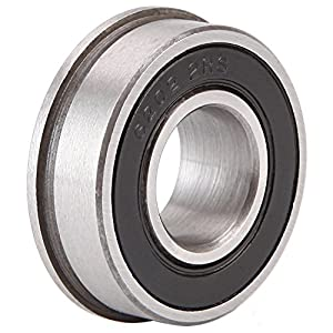 "5/8"" Bearing (Pack - 8), ID 5/8"" x OD 1-3/8"" - Lawn Mower and Wheelbarrows & Carts Wheel Bearing - Marathon# 60602 Flanged Precision Ball Bearing. by XiKe"