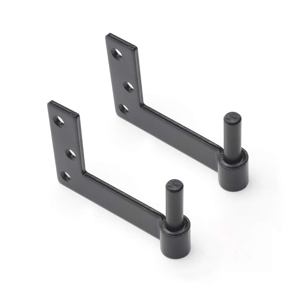 Timberlane Genuine Heavy Duty Jamb Pintle, 3'' Offset Shutter Hardware, Black Powder Coated Steel by Timberlane