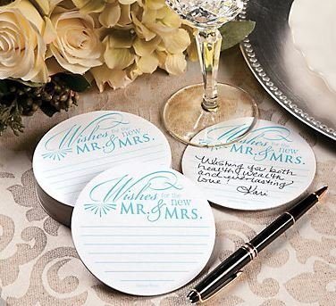 Wedding Wishes Advice Coasters for Wedding Receptions and Bridal Showers (100)]()