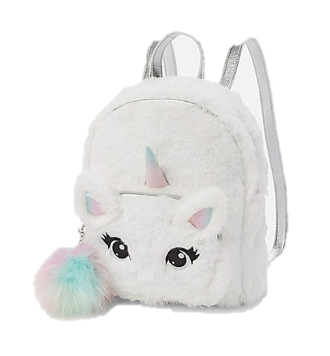 Justice Unicorn Faux Fur Mini Backpack