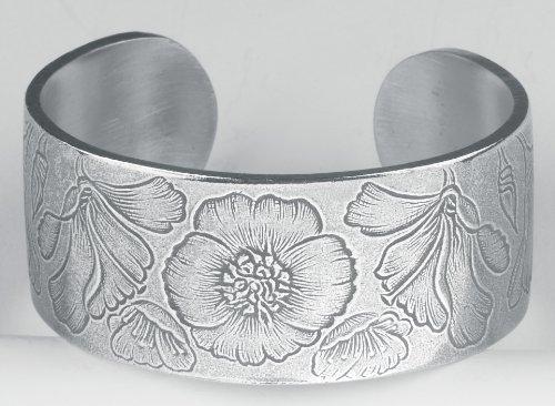 Pewter Flower of the Month Bracelet - Aug Month Pewter Bracelet