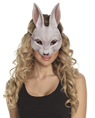 Boland Bunny Rabbit Half Face Mask Animal Face Fancy Dress Costume Accessory Adult -