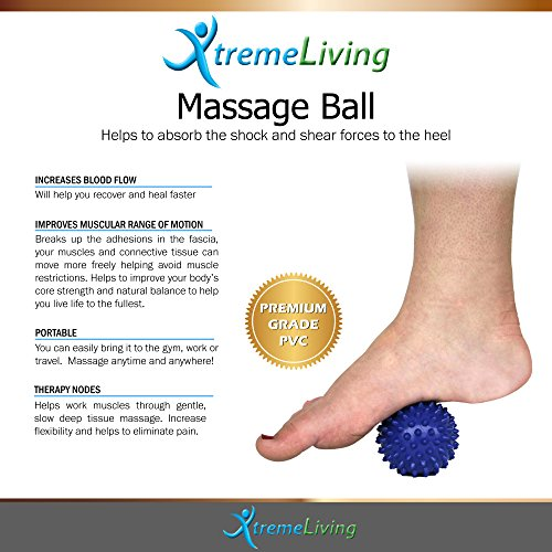 Plantar Fasciitis Compression Arch Support, 2 Arch Sleeves, 2 Gel Heel Sleeves, Massage Ball, 5pc Set by Xtreme Living (Image #3)