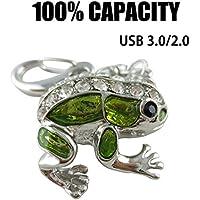 Cute Frog USB flash drive, new style diamond flash drive memory stick thumb driver 16GB 32GB usb 3.0/2.0 U disk (32GB)