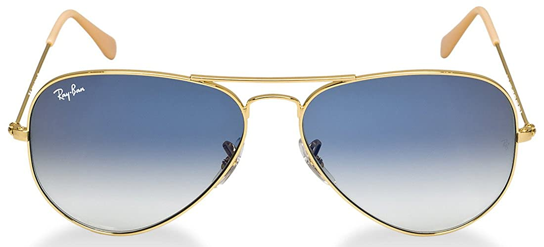 7f958e739ec5 Amazon.com  Ray-Ban Aviator Non-Polarized Sunglasses Gold Light Blue  Gradient  Shoes