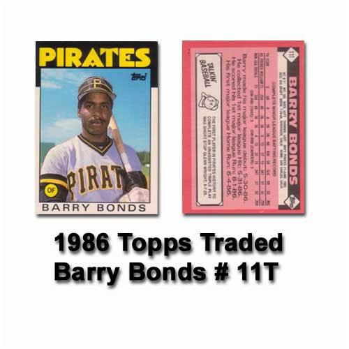 Amazoncom 1986 Topps Traded Barry Bonds Rookie Card