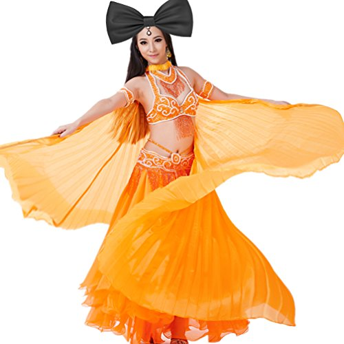 2019 Party/Pub Angel Imitated Silk Belly Dance Isis Wings Costumes Prop Stage (No Sticks) Orange]()