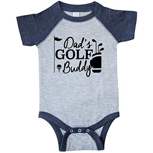 inktastic - Dad's Golf Infant Creeper 12 Months Vintage Heather and Navy 26877