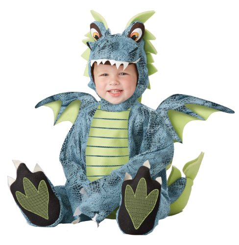 California Costumes Men's Darling Dragon Infant, Blue/Lime, 12-18 -