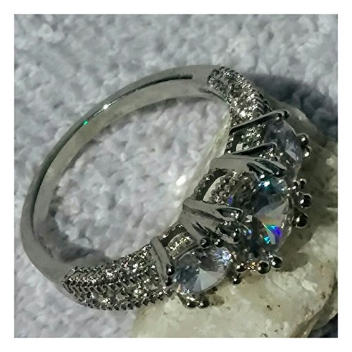 three stone engagement ring - 3