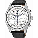 Seiko Men's Chronograph Quartz Watch with Leather Strap SPC131P1