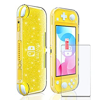 Glitter Case for Nintendo Switch lite, Glitter Protector for Switch lite with Tempered Glass Screen Protector