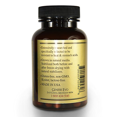 Harmony Probiotic Blend - Featured in WELLNESS MAGAZINE - for Women, Men, Kids - Best for Mood - Weight Loss - Digestion - Sleep. No Refrigeration. Non-GMO, Gluten-Free, Dairy-Free, Soy-Free, Kosher. by Genesis Evo (Image #1)