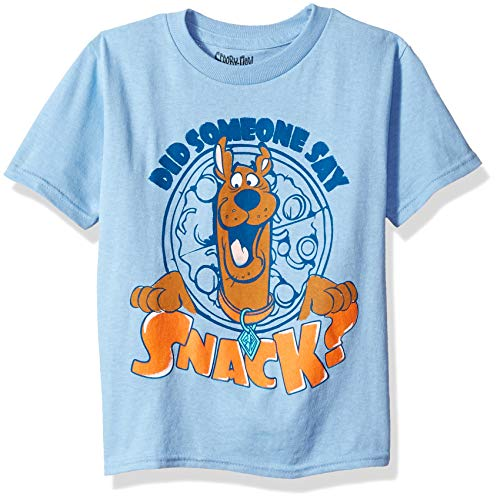 Scooby Doo Shirts For Toddlers (Scooby Doo Boys' Toddler Someone Say Snack Short Sleeve Tshirt, Sky Blue,)