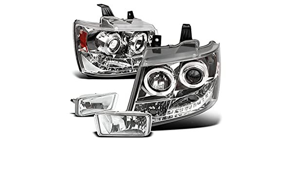 For 2007-2013 Chevrolet Chevy Avalanche Clear LED Fog Light Kits OEM Replacement