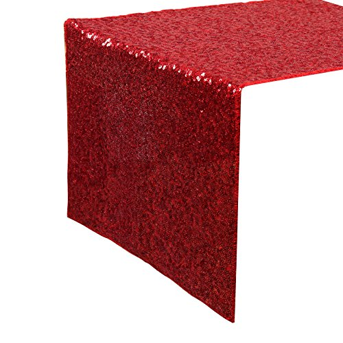 Kevin Textile Christmas Decorative Luxurious Sequins Table Runner Rectangular Glitzy Sparking Table Cover,14
