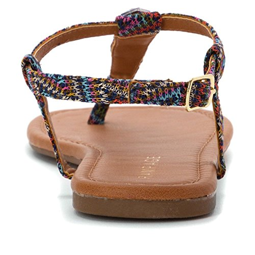 Rampage - Sandalias de vestir para mujer Azteca