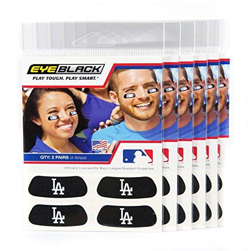 (24 Strips) Eye Black - Los Angeles Dodgers