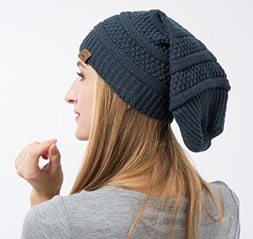 Slouchy Cable Knit Beanie - Chunky 4d3264dbc26