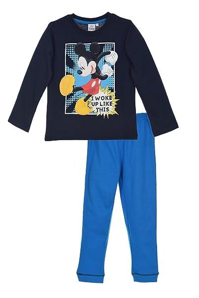 Mickey Mouse - Camiseta de Pijama - para niño Azul 3 años