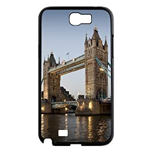 Tower Bridge Evening Samsung Galaxy Note 2 Case, Samsung Galaxy Note 2 Cases Elegant Evekiss - Black