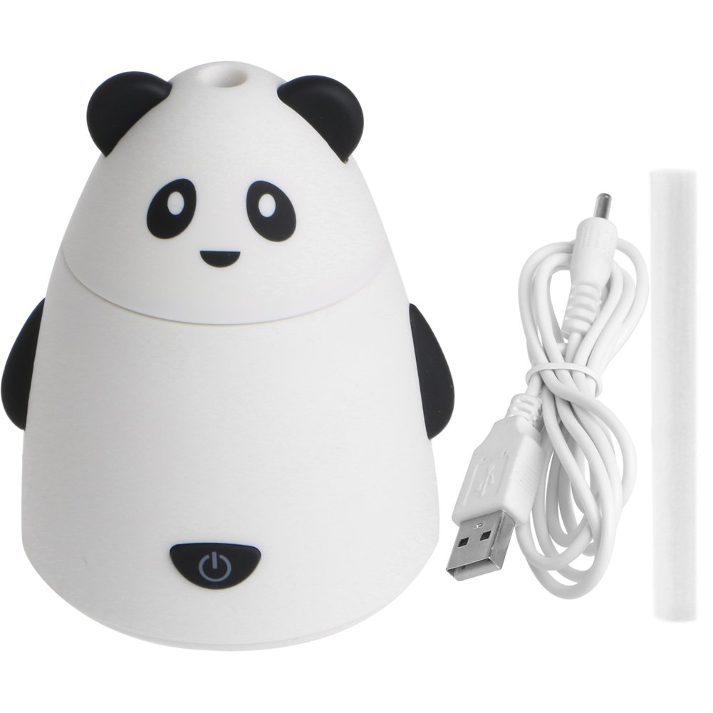 Julyshop 80ml Aromatherapy Essential Oil Diffuser Portable Ultrasonic Humidifier with USB Cable (white)