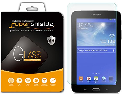 [2-Pack] Supershieldz for Samsung Galaxy Tab E Lite 7.0 / Tab 3 Lite 7.0 Screen Protector, [Tempered Glass] Anti-Scratch, Anti-Fingerprint, Bubble Free, Lifetime Replacement Warranty