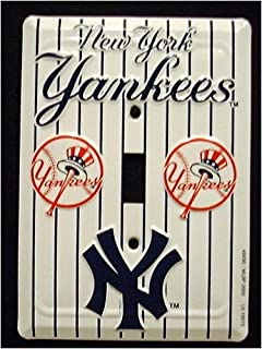 New York Yankees MBL Aluminum Novelty Single Light Switch Cover Plate