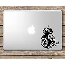 BB-8 Moving Toward Apple Star Wars BB8 -Apple Macbook Laptop Vinyl Sticker Decal, Die cut vinyl decal for windows, cars, trucks, tool boxes, laptops, MacBook - virtually any hard, smooth surface