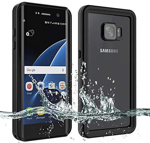 Waterproof Galaxy S7 Edge Case [NOT for S7], Besinpo Underwater 6.6ft 30 Minutes Full Body Protective Cover for Samsung Galaxy S7 Edge Only(5.5inch,Black) (Beatles Love Las Vegas 2 For $100)