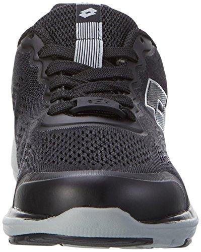Lotto Cityride Ii Amf, Zapatillas de Deporte Exterior para Hombre Negro (Blk/slv Mt)